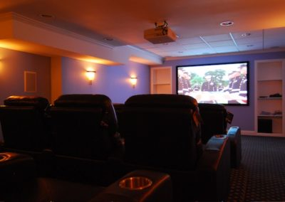 Expert installation of custom home theater, Control4 automation, surround sound, Far Hills, NJ. New Vernon, NJ. Green Village, NJ, Chatham, NJ
