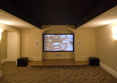 Expert installation of Epson projector, Da-Lite Screen, Sonos, Control4 automation, surround sound, Sonos, Bernardsville, NJ