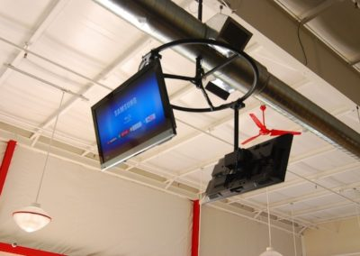 Commercial TV installation in Sporting Goods Store