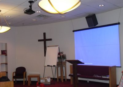 TV, Projector and Audio solution for local church