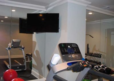 Gym TV, Short Hills, NJ. Expert TV installation, surround sound, Sonos, Control4