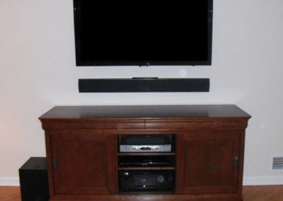 Sonos Playbar, Samsung TV, Custom installation, Chester, NJ