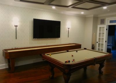 TV Installation in Billiard, Game Room, Summit, NJ