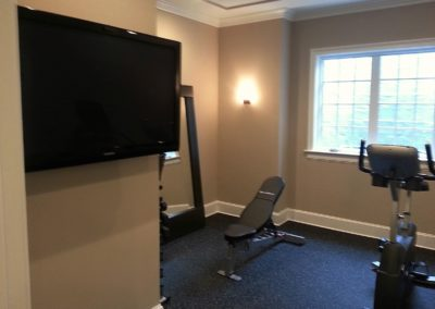 TV Installation in Home Gym, Madison, NJ