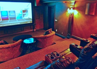 Expert installation of custom Home Theater, Surround Sound, Control4 automation, Epson projector, Bernardsville, Far Hills, Basking Ridge