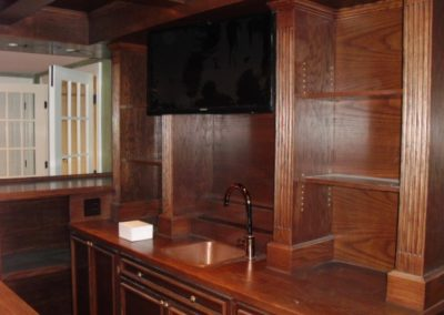 Custom TV installation in Family Room Bar Area, Bernardsville, NJ