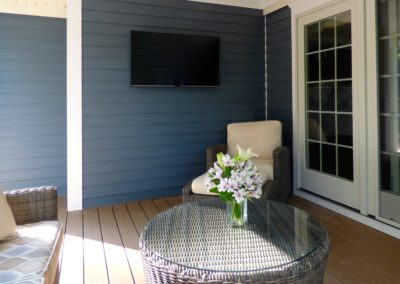 Custom TV Installation on Deck, Morristown, NJ