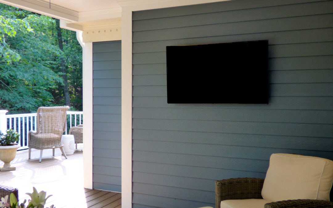 TV Installation on Deck, Morristown, NJ