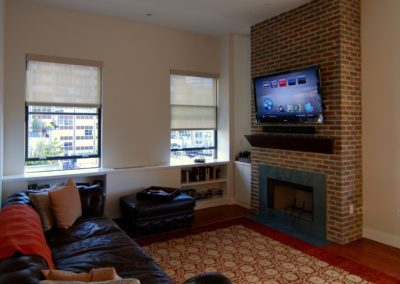 TV over Fireplace in Apartment